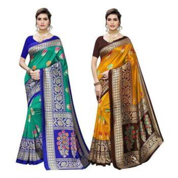 Elegant Printed Art Silk Saree (Combo)