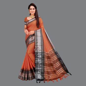 Elegant Woven Cotton Silk Uppada Saree