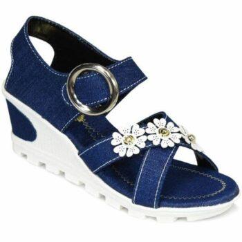 Fancy Womens Box Heel Sandals
