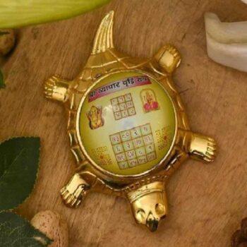 Feng Shui Spiritual Stylish Tortoise With Shri Vyapar Vradhi Yantra