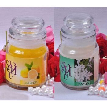 Flavour Glass Jar Candles (Pack of 2)