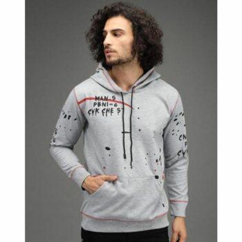 Fleece Printed Full Sleeves Men's Hoodie