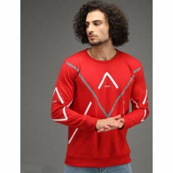 Fleece Printed Full Sleeves Sweatshirt for Men