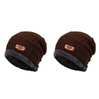Fleece Solid Winter Caps Buy 1 Get 1 Free