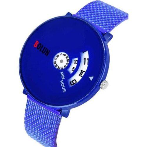 Full Screen Dial Stainless Steel Men's Watch - Blue