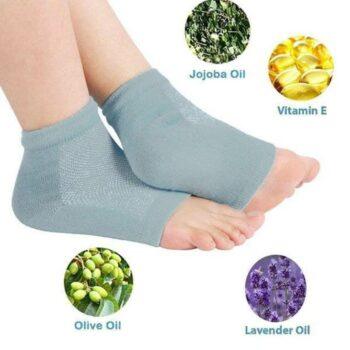 Gel Socks - Unisex Silicone Gel Heel Socks for Dry Hard Cracked Heels Repair Foot Care Support