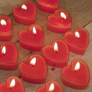 Heart Shape Rose Scented Candles (Pack of 24)