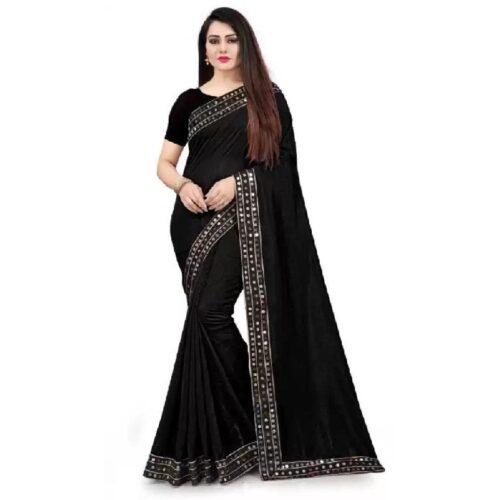 JSItaliya Solid Fashion Pure Silk Saree 1
