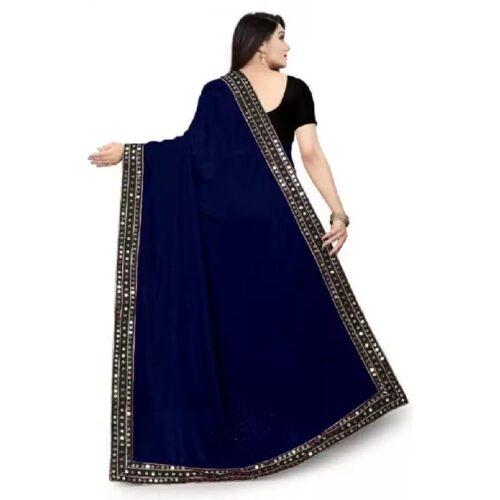 JSItaliya Solid Fashion Pure Silk Saree 10