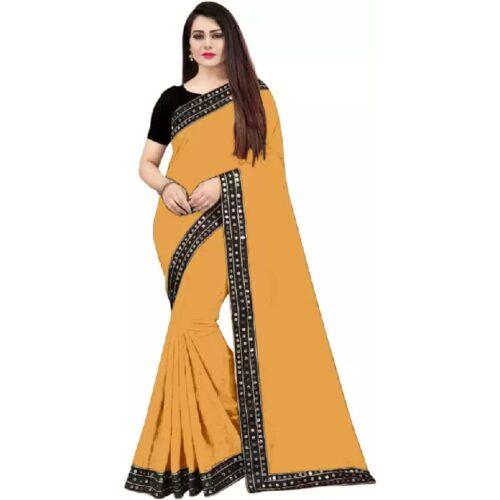 JSItaliya Solid Fashion Pure Silk Saree 26
