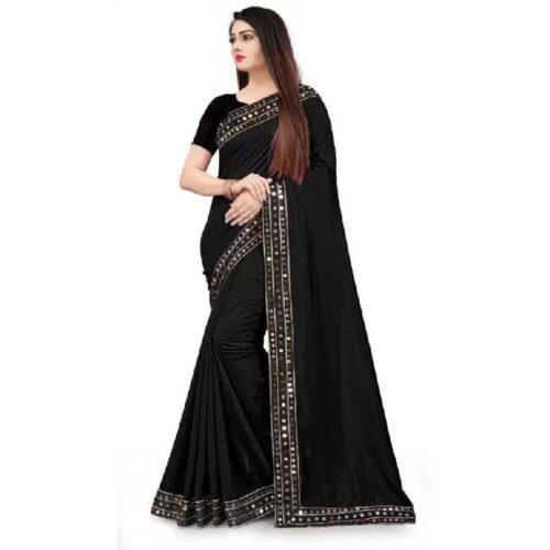 JSItaliya Solid Fashion Pure Silk Saree 3