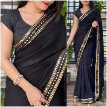JSItaliya Solid Fashion Pure Silk Saree