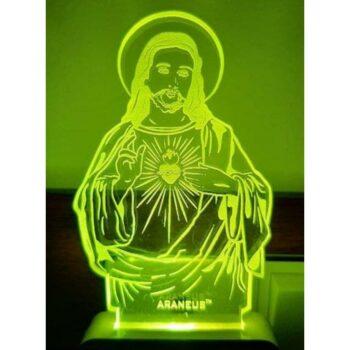 Jesus Christ LED 3D Illusion Night Lamp