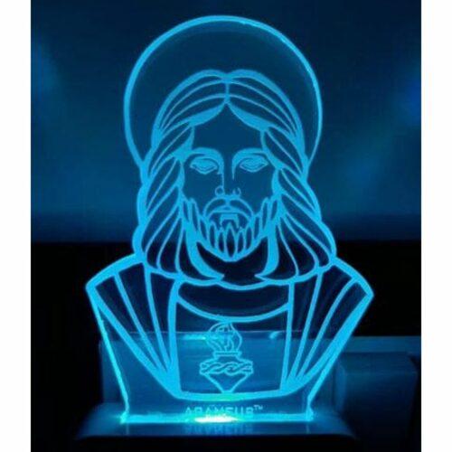 Jesus LED 3D Illusion Night Lamp