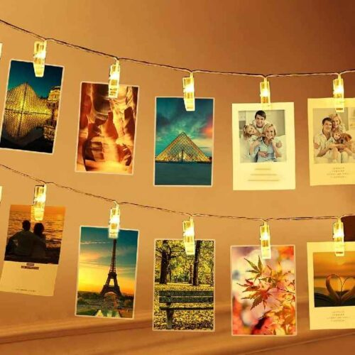 Led Light Clips for Photo Hanging Home Decoration Diwali Party Christmas Festivals (Clip-10)