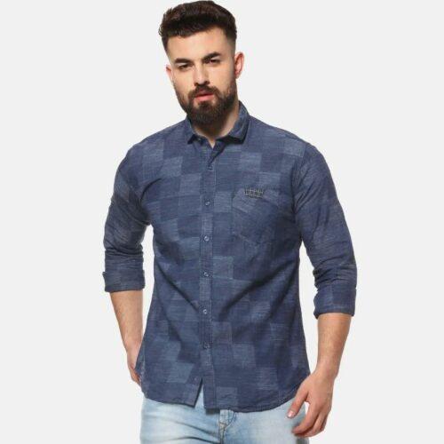 Men Casual Checkered Shirt
