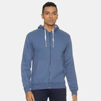 Men Solid Stylish Full Sleeve Hooded Sweatshirt