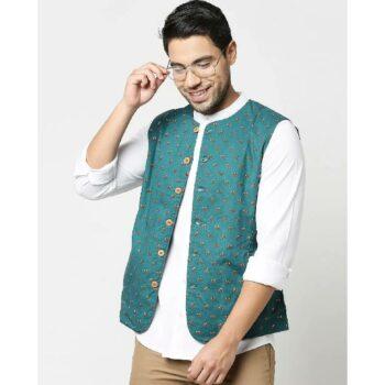 Men's All Over Printed Nehru Jacket