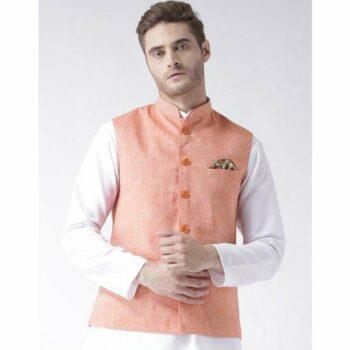Men's Blended Sleeveless Festive Nehru Jacket / Waistcoat