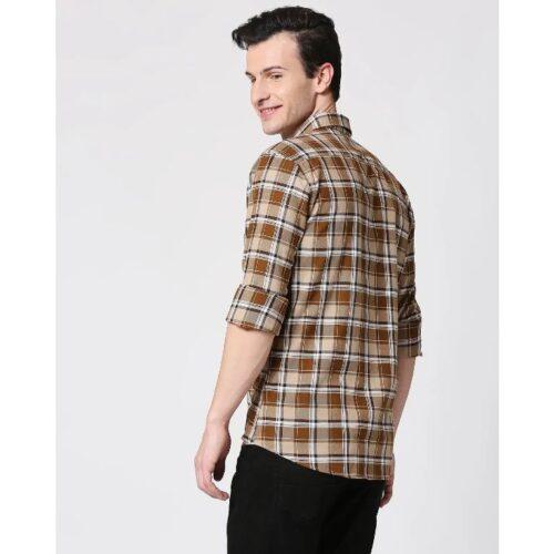 Mens Checks Pocket Casual Shirt 1