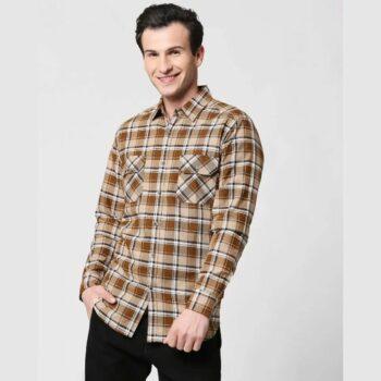 Mens Checks Pocket Casual Shirt