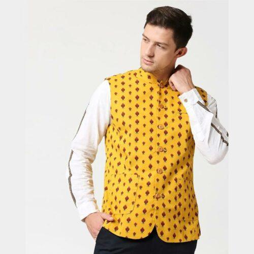Men's Printed Waistcoat