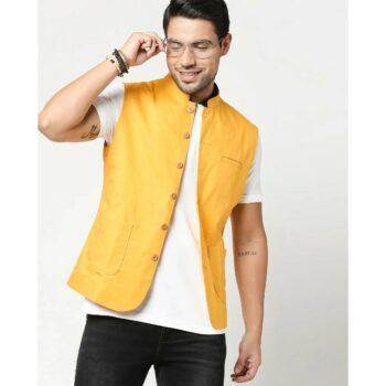 Men's Solid Nehru Jacket