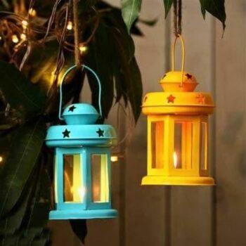 Metal Lantern Tealight Holder (Set of 2)