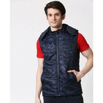 Navy Camo Puffer Jacket