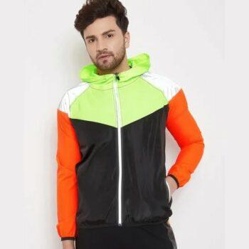 Nylon Reflective Cut And Sew Windcheater Jacket