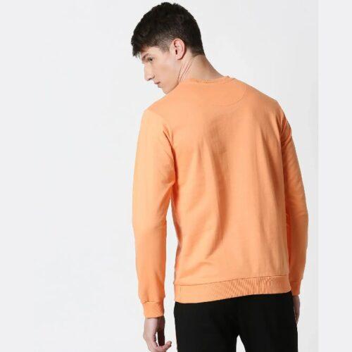Orange Rush Fleece Sweatshirt 1