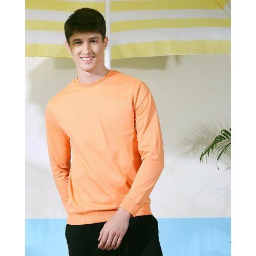 Orange Rush Fleece Sweatshirt