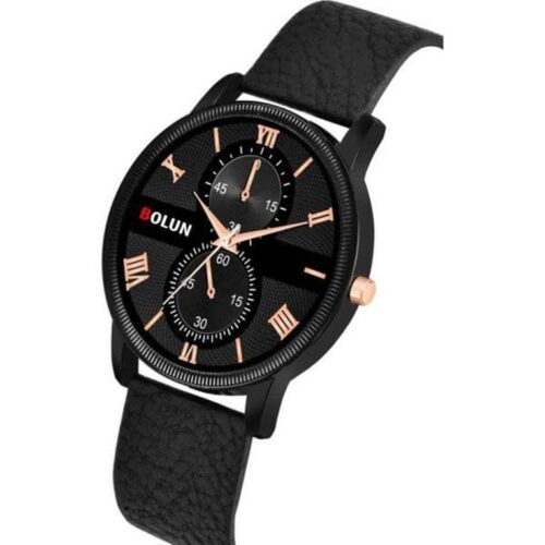 Partywear Leather Watch for Men 1 1