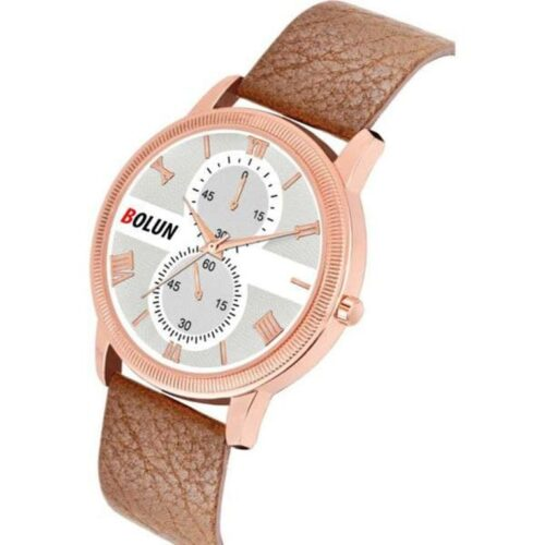 Partywear Leather Watch for Men 4