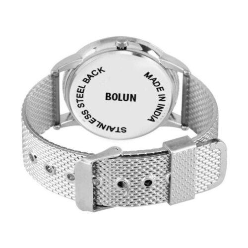 Partywear Stainlees Steel Silver Watch for Men