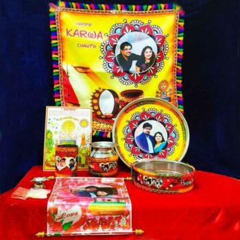 Personalized Karwa chauth Thali Set of 10