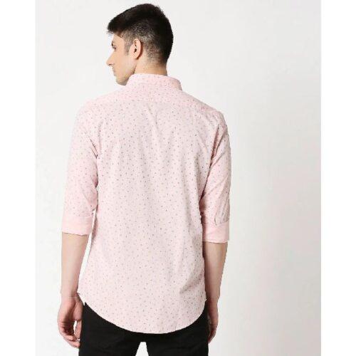 Pink Cotton Melange Shirt 1