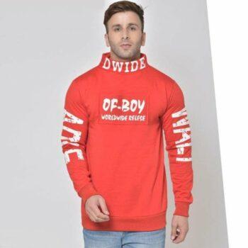Poly Cotton Fleece Printed Full Sleeves Sweatshirt