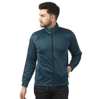 Polyester Blend Solid Full Sleeves Jacket for Men