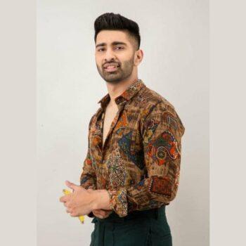Polyester Printed Full Sleeves Regular Fit Mens Casual Shirt