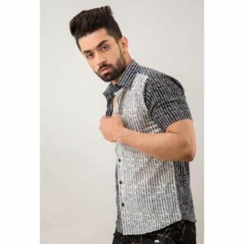 Polyester Printed Half Sleeves Regular Fit Mens Casual Shirt