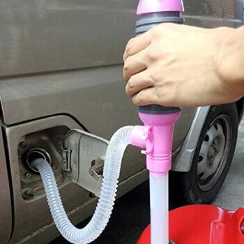 Portable Car Hand Siphon Oil Fuel Water and Oil Transfer Pump for Home Basement, Garage & Emergency Use Hand Siphon Pump Oil Gasoline Petrol Fuel Liquid Transfer Tool (Pack Of 1)