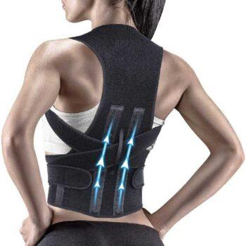 Posture Corrector Shoulder Back Support Belt Posture Corrector Therapy Shoulder Belt for Lower and Upper Back Pain Relief for Men and Women (Back Support Belt)