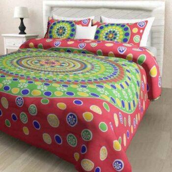 Pure Cotton Printed Jaipuri Double Bedsheet