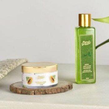 Pure & Grace Clear Skin Face wash & Scrub Kit (Neem - Anti Acne Facewash & Tan Removal Scrub)