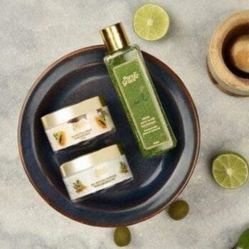 Pure & Grace Clear Skin : Face Cleanup Kit (Facewash, Face Scrub, Face Mask)