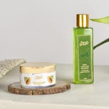 Pure & Grace Clear Skin : Face Wash and Face Mask Kit (Neem - Anti Acne Facewash, Tan - Removal Mask)