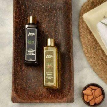 Pure & Grace Hair Strengthening Kit (Bhringraj Oil & Amla, Shikakai, Heena Shampoo)