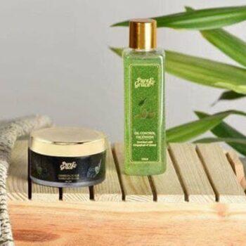 Pure & Grace Oil Control Face wash & Scrub Kit (Oil Control Facewash & Charcoal Scrub)