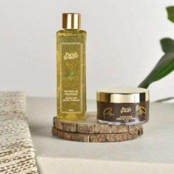 Pure & Grace Oil Control Face wash & Scrub Kit (Tea Tree Facewash & Coffee Scrub)